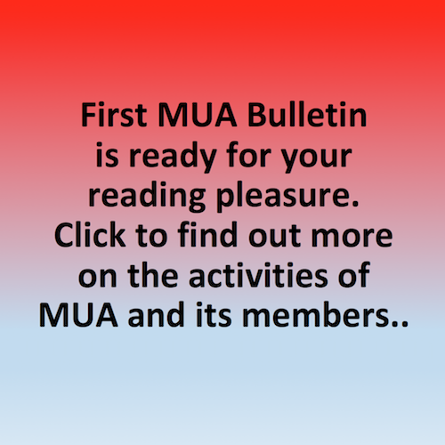 First MUA Bulletin is ready for your reading plesure.