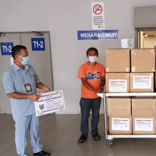 MUF organises the contribution of 1000 bottles of hand sanitisers amid COVID-19 pandemic